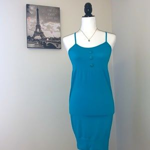 Blue tunic sundress